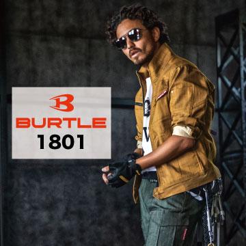 バートル BURTLE 1801 長袖ブルゾン ジャケット 作業着 作業服 秋冬 ストレッチ クレイジーストレッチ 細身シルエット 2020新商品